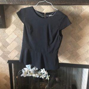 Express black peplum blouse small euc